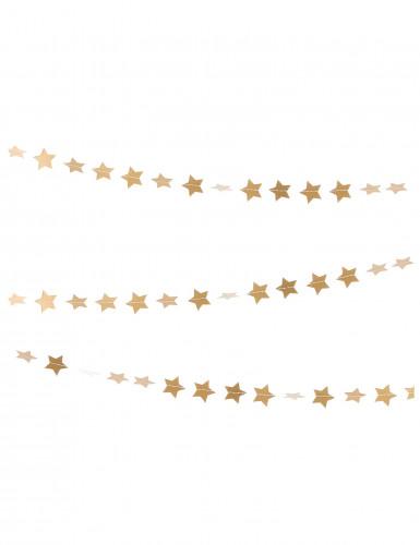 Goldene Girlande kleine Sterne