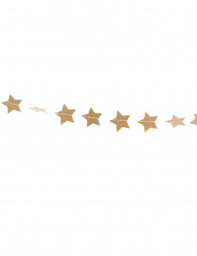 Goldene Girlande kleine Sterne-1