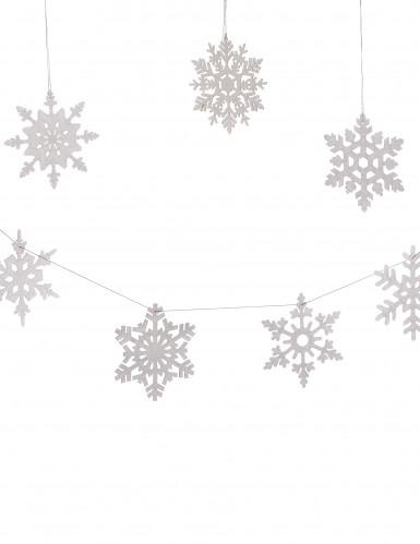 8 Schneeflocken zum Aufhängen 15 cm