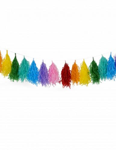 Girlande mit 16 Bommeln in verschiedenen Farben-1