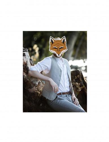 Fuchs Maske aus Pappkarton-1