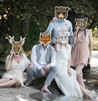 Fuchs Maske aus Pappkarton-2