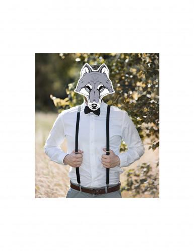 Wolf Maske aus Pappkarton-1