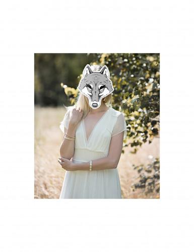 Wölfin Maske aus Pappkarton-1