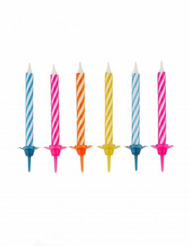10 bunte Geburtstagskerzen
