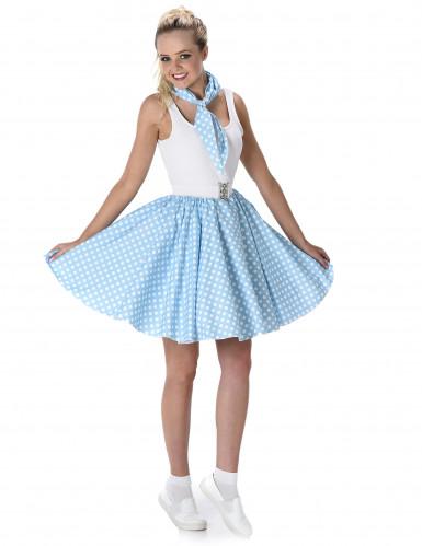 Blaues 50er Jahre Kostüm für Damen