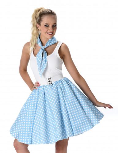 Blaues 50er Jahre Kostüm für Damen-1