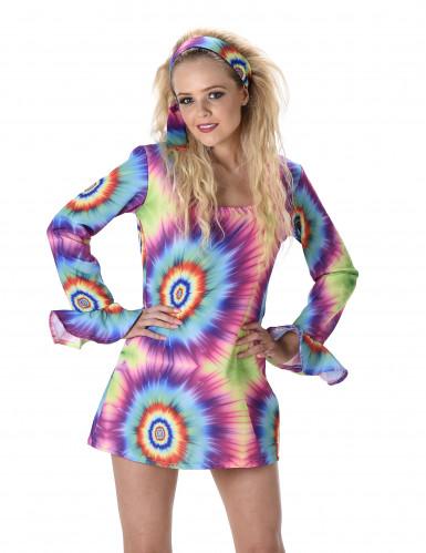 Psychedelisches Hippie Kostüm für Damen-1