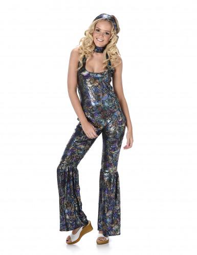 Schillerndes Disco Kostüm für Damen