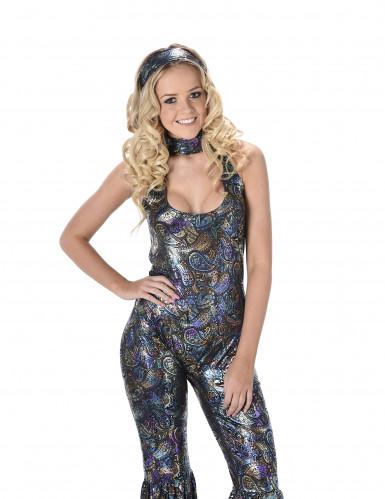 Schillerndes Disco Kostüm für Damen-1