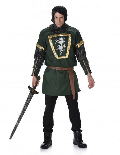 Einhorn-Ritter-Kostüm für Herren bunt