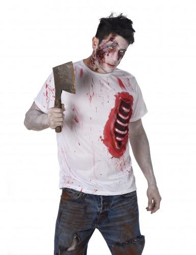 Zombie Kostüm für Herren mit Latexeinsatz-1
