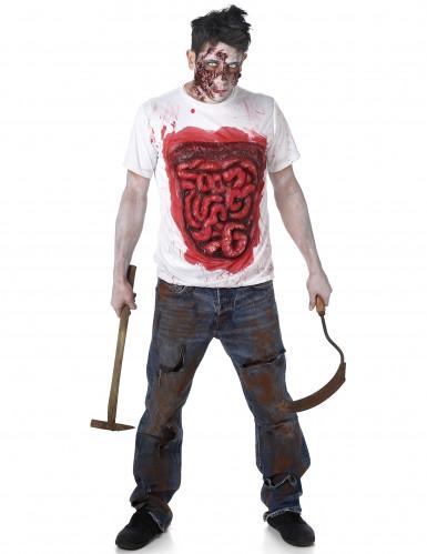 Zombie Kostüm Halloween mit Latex Gedärmen