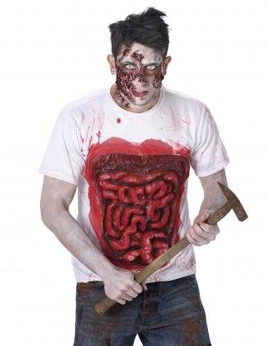 Zombie Kostüm Halloween mit Latex Gedärmen-1