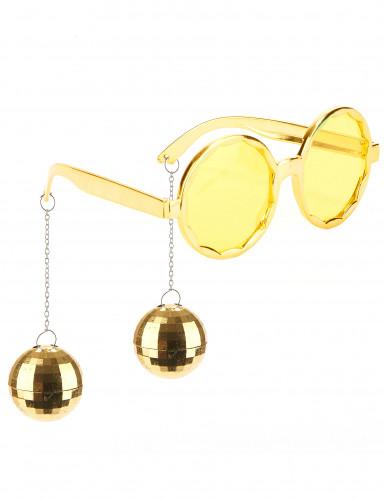 Goldene Disko Brille