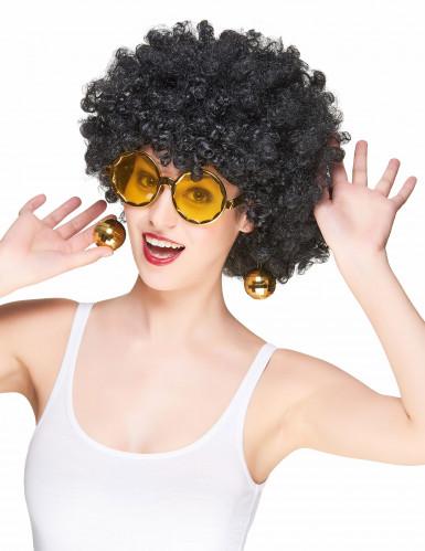 Goldene Disko Brille-1