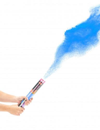 Blaue Puderkanone