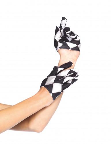 Mini Handschuhe schwarz weiß für Erwachsene