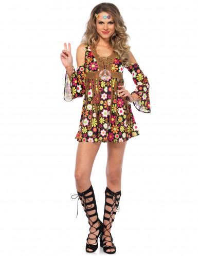 Blumen Hippiekostüm für Damen