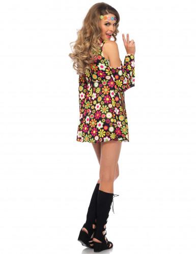 Blumen Hippiekostüm für Damen-1