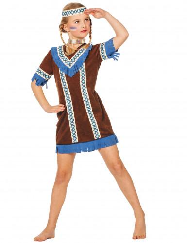 Indianer Kostüm mit Fransen für Mädchen