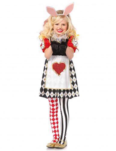 Herzkönigin Hasen Kostüm für Mädchen