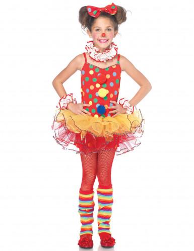 Zirkus-Clown Kostüm für Mädchen