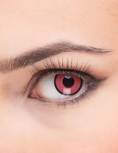 Kontaktlinsen - Rosa/schwarz