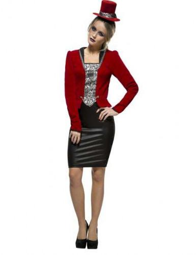 Sexy Vampirin Kostüm für Damen rot-schwarz