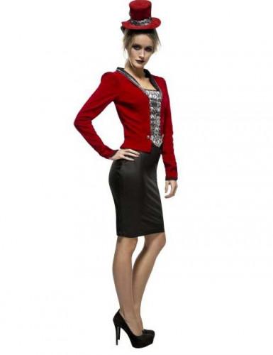 Sexy Vampirin Kostüm für Damen rot-schwarz-1