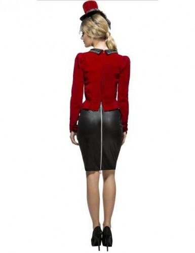 Sexy Vampirin Kostüm für Damen rot-schwarz-2