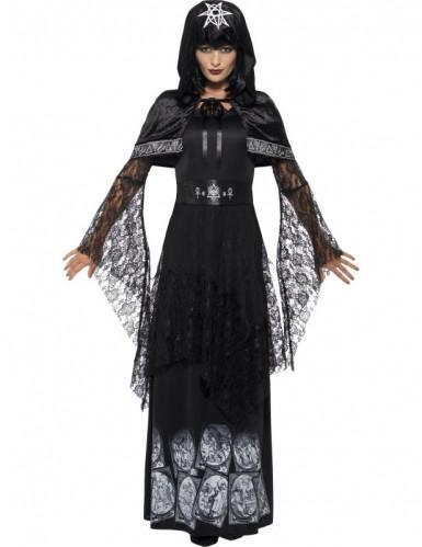 Schwarze Magierin Halloween Kostüm für Damen