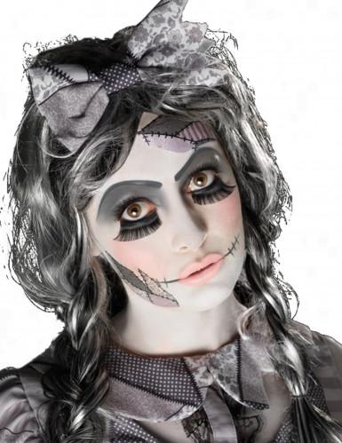 Schauriges Puppen-Make-up Halloween Schmink-Set bunt