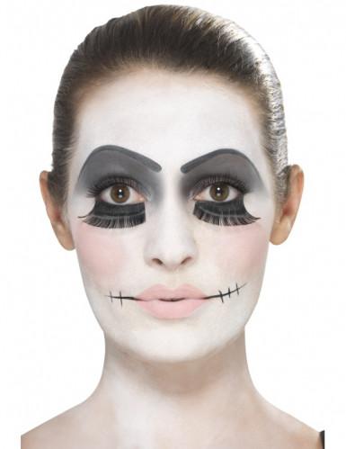 Schauriges Puppen-Make-up Halloween Schmink-Set bunt-1
