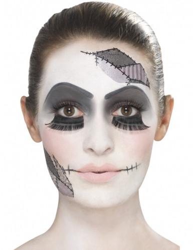 Schauriges Puppen-Make-up Halloween Schmink-Set bunt-2