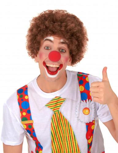 Afro-Perücke Clown braun für Erwachsene-1
