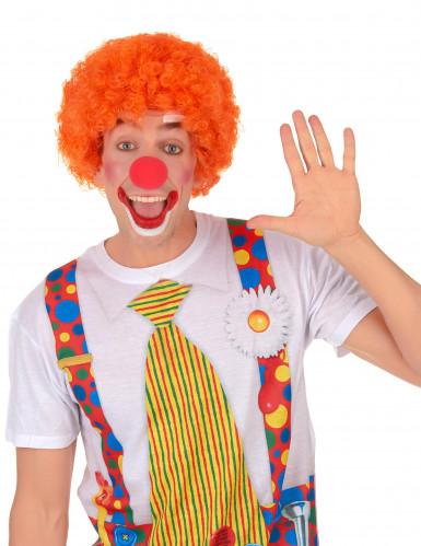 Afro-Perücke Clown orange für Erwachsene-1