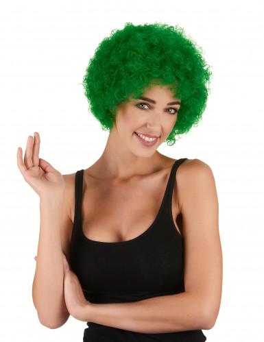 Kurze Afro-Perücke Clown grün für Erwachsene