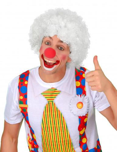 Afro-Perücke Clown weiß für Erwachsene-1