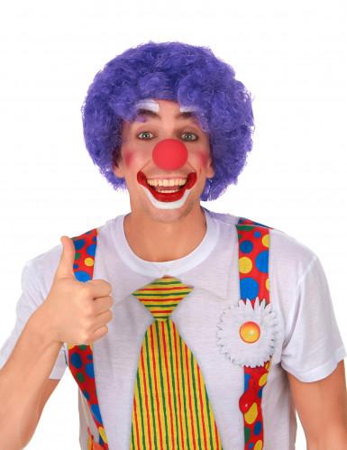 Afro-Perücke Clown violett für Erwachsene-1