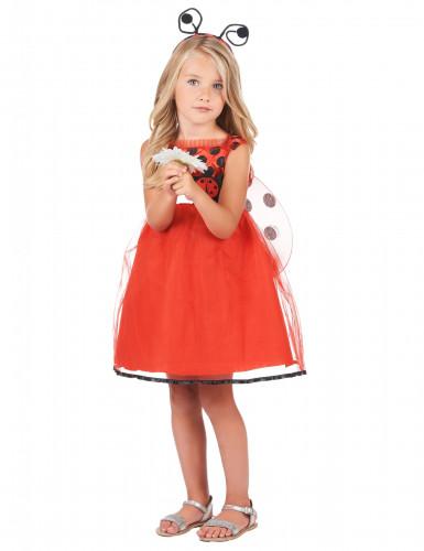 Entzückendes Marienkäfer-Kostüm für Mädchen rot-schwarz-1