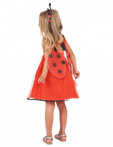 Entzückendes Marienkäfer-Kostüm für Mädchen rot-schwarz-2