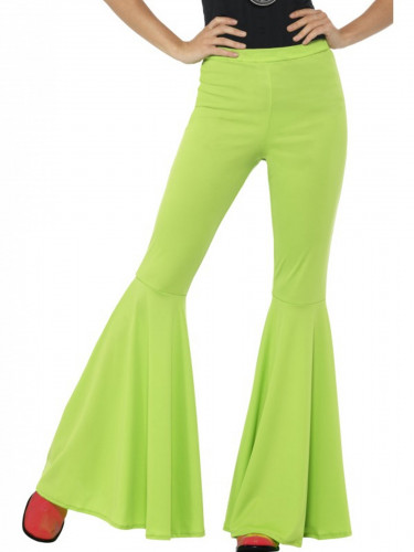 Neongrüne Disco-Hose für Damen