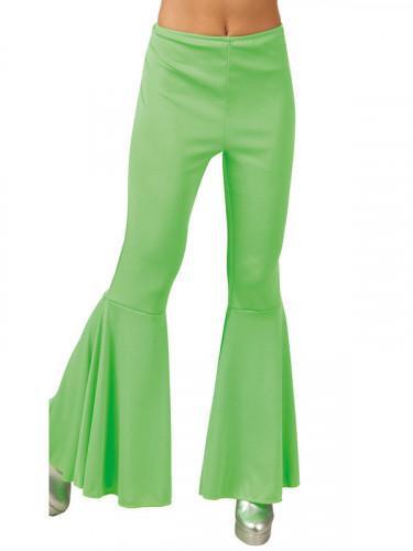 Neongrüne Disco-Hose für Damen-1
