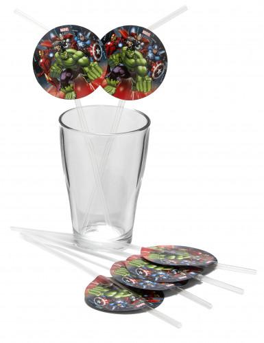 6 Avengers™ Strohhalme-1
