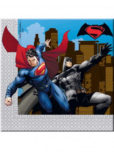 20 Batman™ VS. Superman™ Papier Servietten