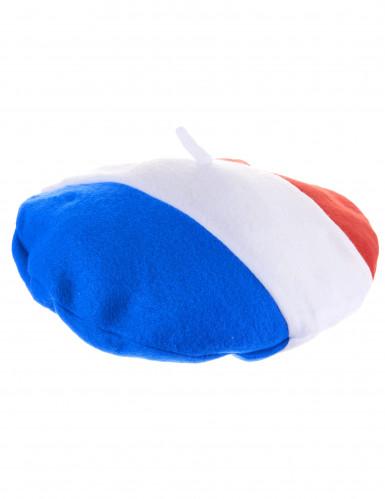 Frankreich Fan Baskenmütze für Erwachsene