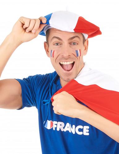 Frankreich Fan Baskenmütze für Erwachsene-1