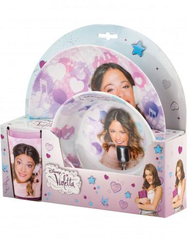 Geschirr-Set aus Plastik - Violetta™