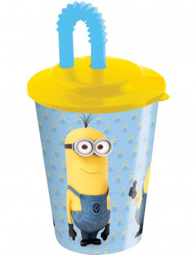 Minion™ Trinkflasche mit Strohhalm